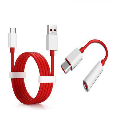 Tipo-C a 3.5mm Jack Audio + USB Cable rápido tipo-C para OnePlus 7 Pro / 7 / 6T / 6