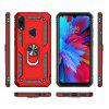 Ring Buckle Kickstand Armor Phone Case for Xiaomi Redmi Note 7 / Note 7 Pro - RED