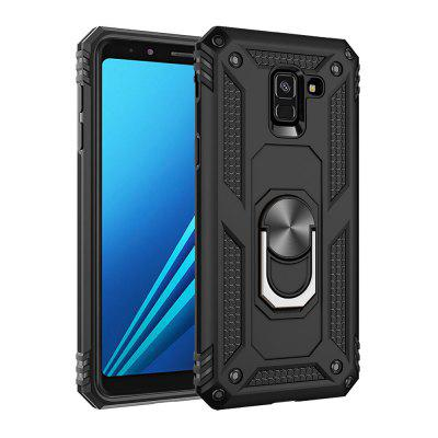 Ring Buckle Kickstand Armor Phone Case voor Samsung Galaxy A8 2018