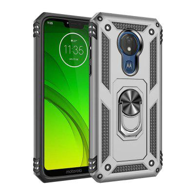 Ring Buckle Kickstand Armor Phone Case voor Moto G7 Power / E6