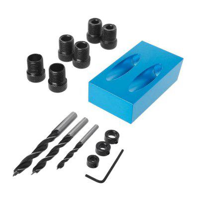 Woodworking Pocket Hole Jig Kit Angle Drill Guider 14PCS