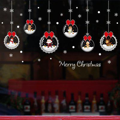 Cartoon Christmas PVC Window Film Wall Sticker For Home Decoration