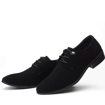 Men Pointed Front Laced Casual Shoes
