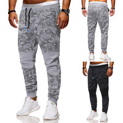 Men Fashion Camouflage Tether Belt Casual Pants