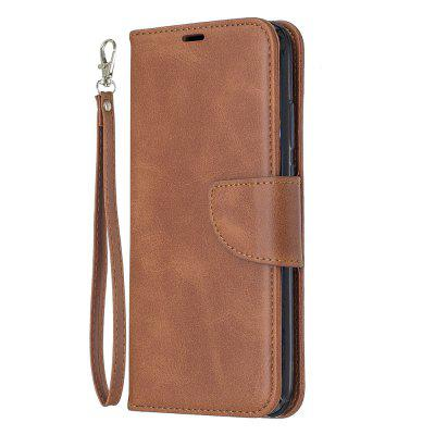 Solid Color Retro Full Protection Leather Phone Case for Huawei P20 Lite 2019