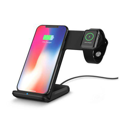 Wireless Charging Dock Stand Station Charger Holder For Apple Watch IPhone