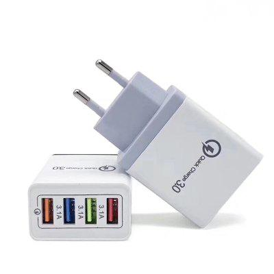 JOFLO 30W 4 porty USB Quick Charger QC 3.0 Travel USB Fast Charger