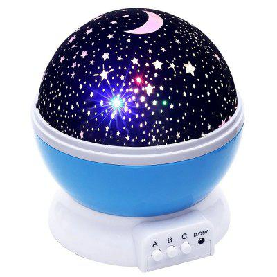 Durable Creative Romantic Starry Night Light Projector USB Battery for Children