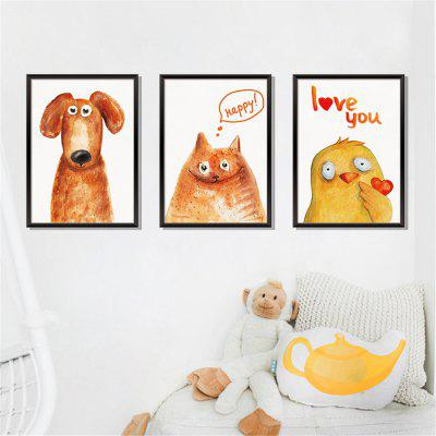 Animal Painting 3D Photo Frame Home Background Decoration Removable Sticker