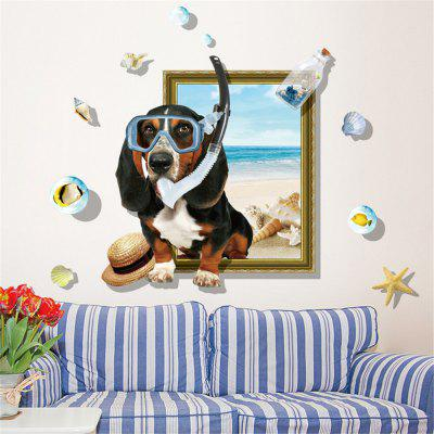 3D Eye Dog Home Background Wall Decoration Wall Sticker Vyměnitelná nálepka