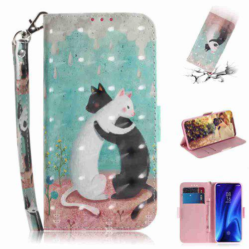 Black and White Cat Painted Phone Case for Xiaomi Redmi K20/K20 PRO