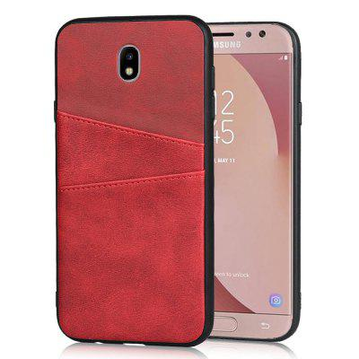 Leather Card Slot Phone Case for Samsung J730 / J7 Pro