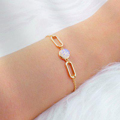Fashion Jewelry Gold Chain Geometric Charm Bracelet