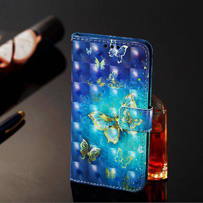 Gold Butterfly Painted PU Phone Case for Xiaomi Redmi 7A