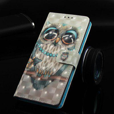 Grey Owl Painted PU Phone Case for Samsung Galaxy S10 5G