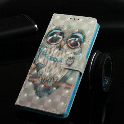 Grey Owl Painted PU Phone Case for Samsung Galaxy S10 E