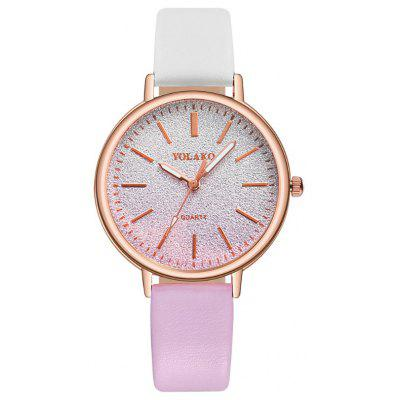 New Fashion Lady Creative Color Matching Dial Leisure Belt Quartz Watch