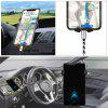 Universal Auto-Retractable Gravity Air Vent Car Holder for iPhone 4.5-6.5 inch - BLACK
