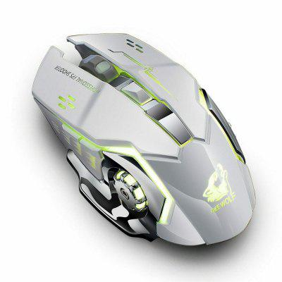 X8 Wireless Rechargeable 2.4Ghz Gaming Mouse LED USB Optical
