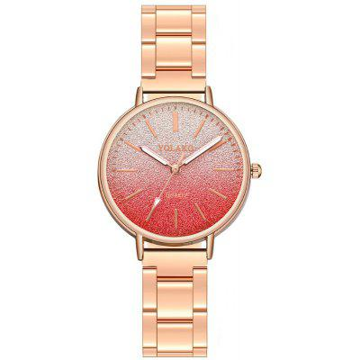 Fashion Lady Business Steel Band Kreatywny Candy Color Dial Quartz Watch
