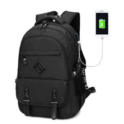New Backpacks Men'S USB Oxford Waterproof Schoolbag Travel Computer Backpack
