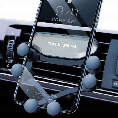 Car Phone Air Vent Gravity Linkage Shock Mount for iPhone/Xiaomi/Huawei/OnePlus