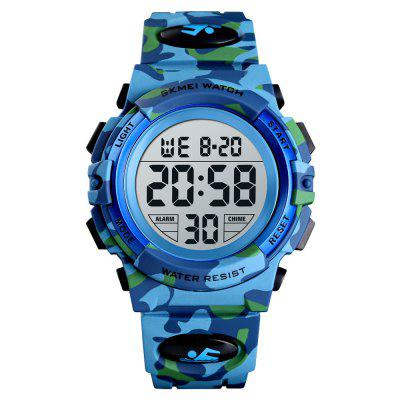 SKMEI Kids Sport Children's Watch Colorful Lights 12/24Hour Camouflage