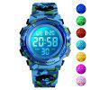 SKMEI Kids Sport Children's Watch Colorful Lights 12/24Hour Camouflage - SNOW CAMOUFLAGE