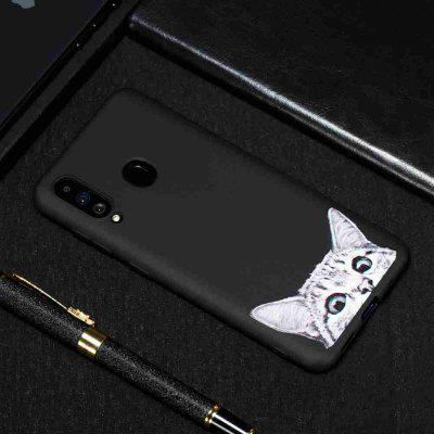 TPU Black Bottom Painted Phone Case for Samsung Galaxy A60