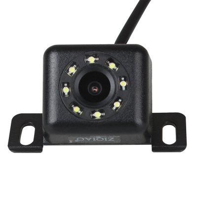 ZIQIAO Car Rear View Camera with 8 LED Lights Night Vision 170 Degree Wide Angle