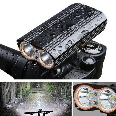 T6 Highlight USB de carga Impermeable Bicicleta de montaña Luces de conducción