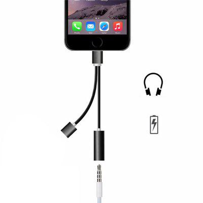 Durable Portable Mini 2-IN-1 3.5MM Jack Adapter Headphone Converter for IPhone 7