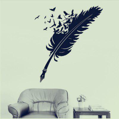 Feather Home Background Wall Decoration Wall Sticker Removable Sticker