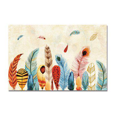 DYC Retro Coloured Feathers Print Art