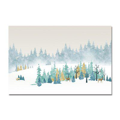 DYC Piękny Snow Mountain Scenery Print Art