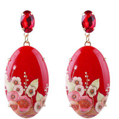 Fashion Jewelry Fashionable Resin Print Earrings