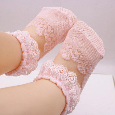Summer Thin Children Lace Princess Socks Baby Girl Crystal