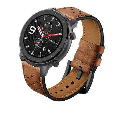 Leather Wrist Strap Watch Band for Huami Amazfit GTR 47MM / Pace / Stratos 2 2S