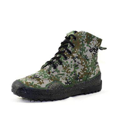 Men'S High-Top Camouflage Non-Slip Wear-Resistant Casual Canvas Shoes