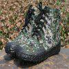 Men'S High-Top Camouflage Non-Slip Wear-Resistant Casual Canvas Shoes - WOODLAND CAMOUFLAGE