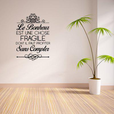 LE Bonheur Home Background Wall Decoration Wall Sticker Removable Sticker