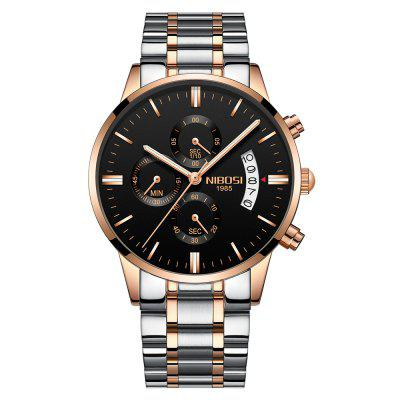NIBOSI Men's Watches Luxury Fashion Casual Dress Chronograph Quartz Wristwatch