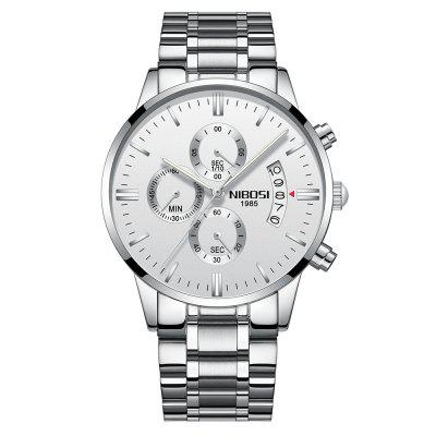 NIBOSI Herren Uhren Luxus Fashion Casual Kleid Chronograph Quarz Armbanduhr