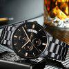 NIBOSI Men's Watches Luxury Fashion Casual Dress Chronograph Quartz Wristwatch - CARBON FIBER BLACK