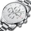 NIBOSI heren horloges luxe mode casual kleding chronograaf quartz horloge - WARM WIT