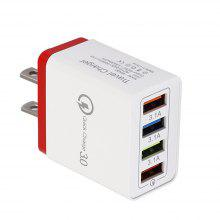 Gearbest JOFLO QC3.0 5V/3.5A Fast Charge 4 Port USB Power Travel Charger Wall Adapter