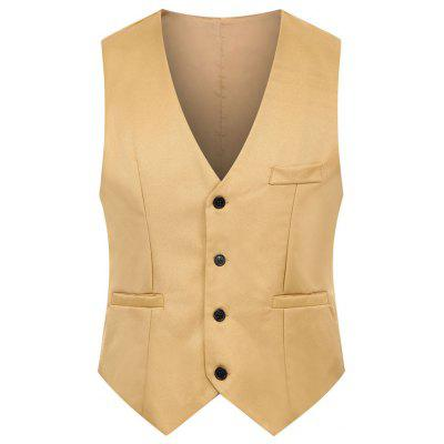 Men's  Autumn and Winter Fashion Solid Color Suit Vest