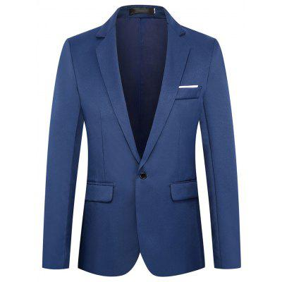 Men's  Autumn and Winter Fashion Solid Color Long-Sleeved Suit