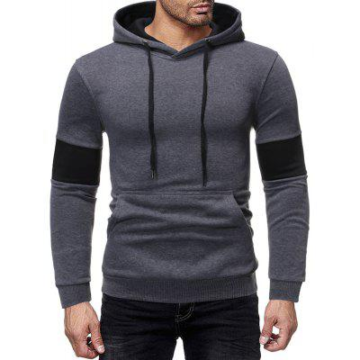 Men's  Autumn and Winter Fashion Stitching Casual Long-Sleeved Sweater