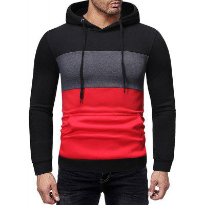 Men's Autumn and Winter Fashion Casual Stitching Color Long-Sleeved Sweater